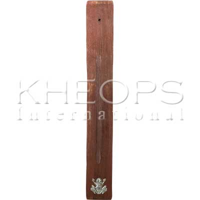Wooden Celtic Cross Incense Burner Holder for Cones /& Sticks with Brass Cup