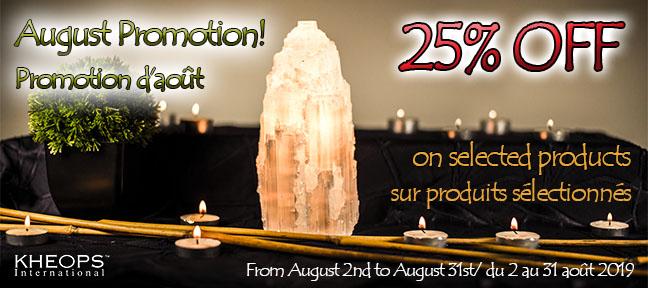 August / Promotion d'Août !